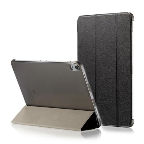 Silk Texture Horizontal Flip Magnetic PU Leather Case for iPad Pro 11 inch (2018), with Three-folding Holder & Sleep / Wake-up Function(Black)