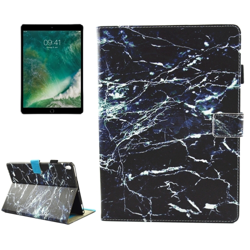 Buy For iPad Pro 10.5 inch Black Marble Pattern Horizontal Flip Leather Protective Case with Holder & Card Slots & Wallet & Pen Slot &Sleep / Wake-up for $4.92 in SUNSKY store