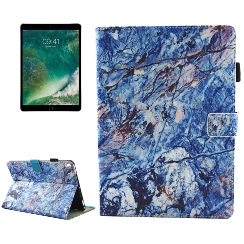 For iPad Pro 10.5 inch Blue Marble Pattern Horizontal Flip Leather Protective Case with Holder & Card Slots & Wallet & Pen Slot &Sleep / Wake-up