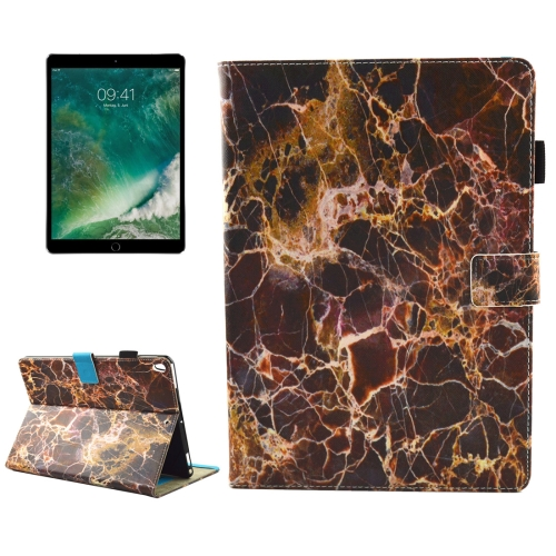 Buy For iPad Pro 10.5 inch Brown Marble Pattern Horizontal Flip Leather Protective Case with Holder & Card Slots & Wallet & Pen Slot &Sleep / Wake-up for $4.92 in SUNSKY store