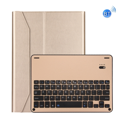 Buy For iPad Pro 10.5 inch Detachable Aluminum Alloy Bluetooth Keyboard + Lambskin Texture Leather Case with Holder, Gold for $21.49 in SUNSKY store