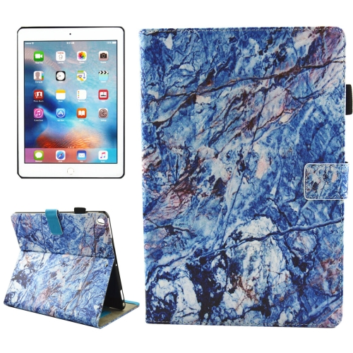 Buy For iPad Pro 10.5 inch Blue Marble Pattern Horizontal Flip Leather Protective Case with Holder & Card Slots & Wallet & Pen Slot &Sleep / Wake-up for $4.94 in SUNSKY store
