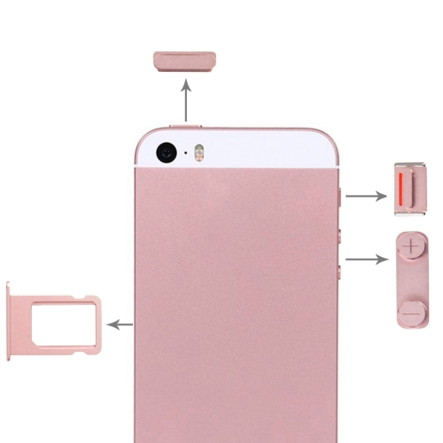 low priced f10cd 7602f SUNSKY - Side Buttons + SIM Card Tray for iPhone SE (Rose Gold)