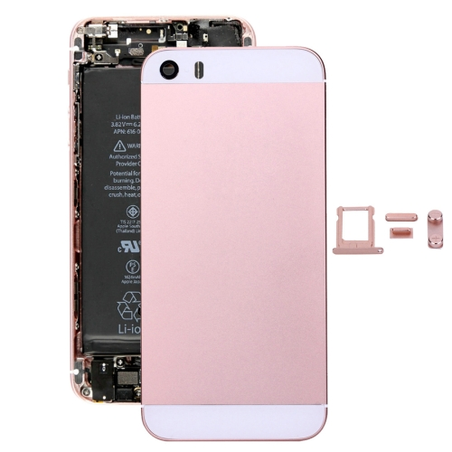 Buy iPartsBuy 5 in 1 for iPhone SE Original (Back Cover + Card Tray + Volume Control Key + Power Button + Mute Switch Vibrator Key) Full Assembly Housing Cover (Rose Gold) for $13.07 in SUNSKY store