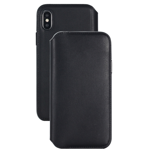 Buy For iPhone X Horizontal Flip Leather Protective Case with Wallet & Card Slot & Sleep / Wake-up Function, Black for $8.36 in SUNSKY store