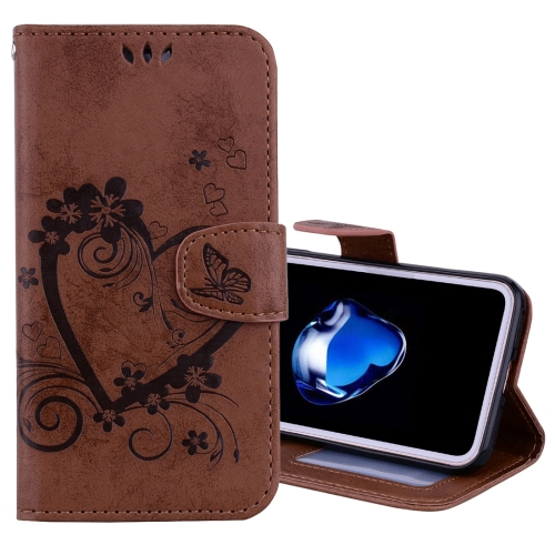 Buy For iPhone X Pressed Flowers Butterfly Love Pattern Horizontal Flip Leather Case with Holder & Card Slots & Wallet & Lanyard & Photo Frame, Brown for $2.69 in SUNSKY store