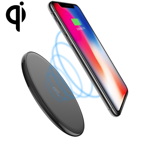 HAMTOD 10W (Max) Round Shape Intelligent Qi Standard Wireless Charger, Support Fast Charging For iPhone, Galaxy, Huawei, Xiaomi, LG, HTC and Other QI Standard Smart Phones (Black) подвес с жемчугом и бриллиантами из белого золота valtera 22492