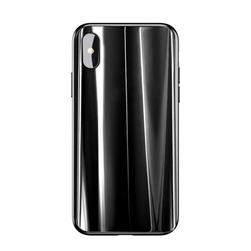Baseus Golden Armour Glass Full Coverage TPU Case for iPhone X(Black) baseus little devil case for iphone 7 plus black