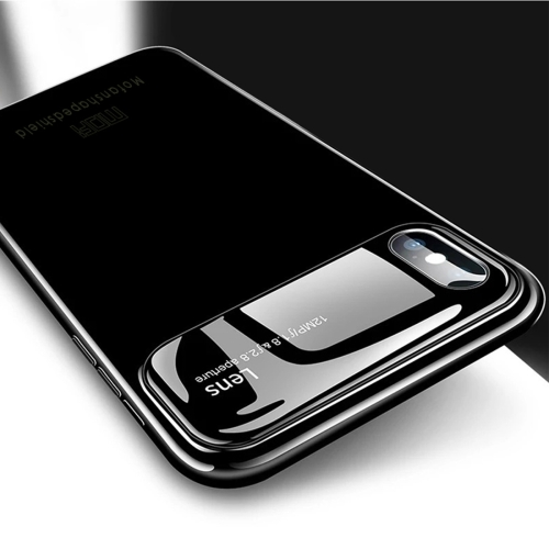 MOFI Full Coverage PC + Lens + Back Camera Glass Case for iPhone X (Black)
