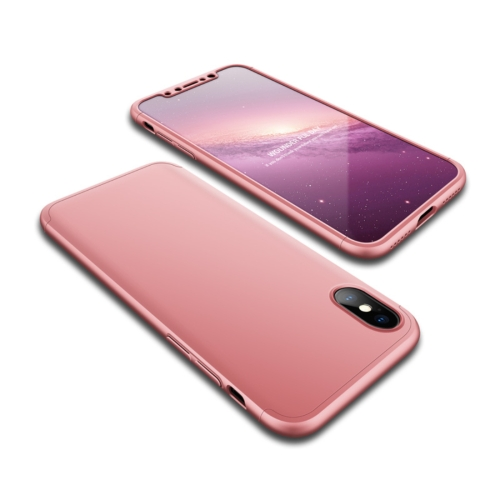 Buy GKK for iPhone X PC 360 Degrees Full Coverage Protective Case Back Cover (Rose Gold) for $2.91 in SUNSKY store