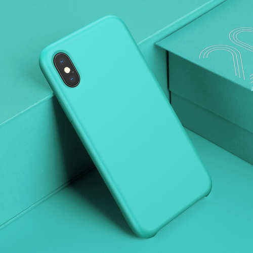 Baseus for iPhone X Silicone Shockproof Soft Protective Back Cover Case (Blue) ziqiao cute cartoon cat shaped protective soft silicone back case for iphone 4 4s red blue