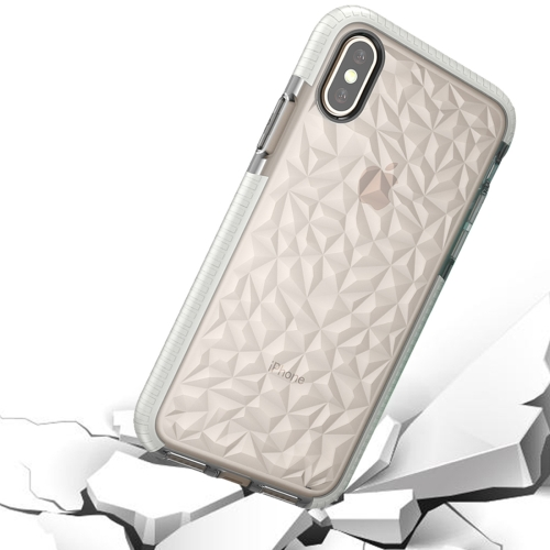 Buy For iPhone X Diamond Texture TPU Dropproof Protective Back Cover Case, White for $2.30 in SUNSKY store