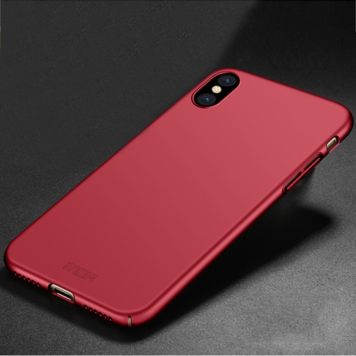 Buy MOFI for iPhone X PC Ultra-thin Full Coverage Protective Back Cover Case, Red for $3.19 in SUNSKY store