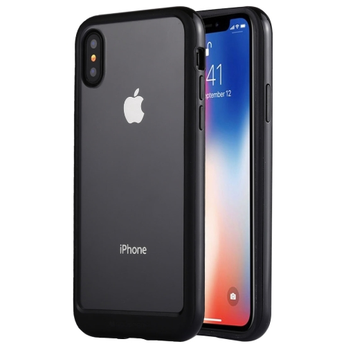 GOOSPERY New Bumper X for   iPhone X / XS   PC + TPU Shockproof Hard Protective Back Case (Black)