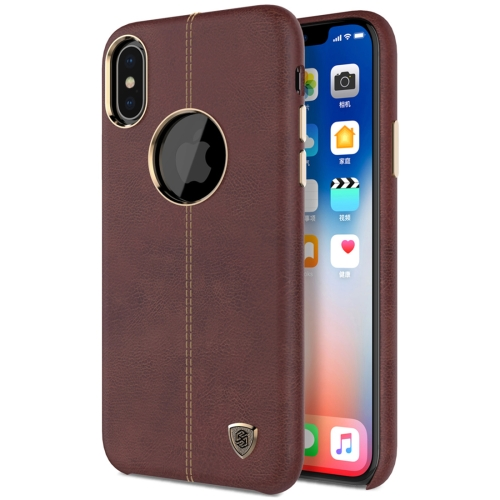 Buy NILLKIN Englon Case for iPhone X Business Style Crazy Horse Leather Surface Protective Case, Brown for $6.67 in SUNSKY store