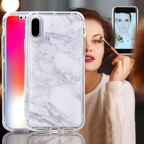 Buy For iPhone X Anti-Gravity Nano-suction Technology Dropproof White Marble Pattern TPU Protective Back Cover Case for $2.67 in SUNSKY store