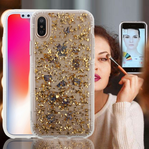 Buy For iPhone X Anti-Gravity Nano-suction Technology Sticky Selfie Glitter Sequins Pattern TPU Protective Case, Gold for $3.20 in SUNSKY store