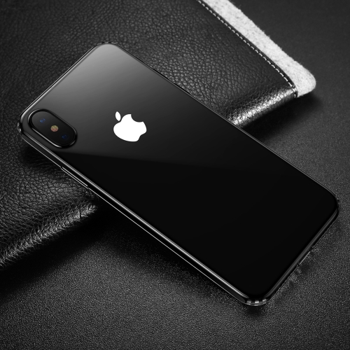 Baseus for iPhone X Dropproof Soft TPU Protective Back Cover Case (Black White) baseus little devil case for iphone 7 plus black