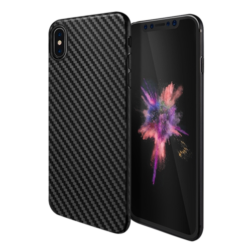 Buy Hoco Delicate Shadow Series for iPhone X Carbon Fibre Texture Surface + TPU Protective Back Case, Black for $1.35 in SUNSKY store