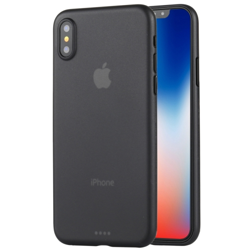 For iPhone X Ultra-thin Frosted PP Protective Back Cover Case(Black) 0 3mm ultra thin matte frosted protective pp back case for iphone 6 plus grey translucent