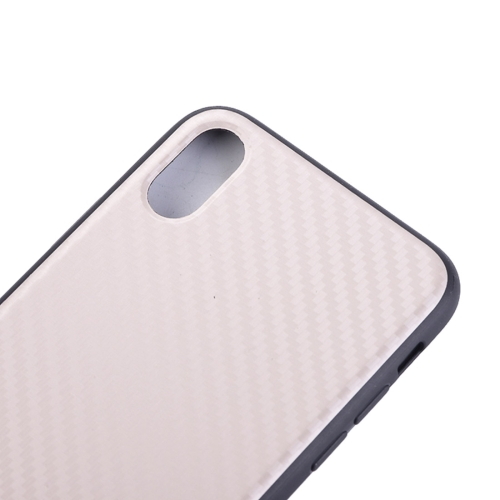 Buy For iPhone X Carbon Fiber Texture TPU Dropproof Protective Back Cover Case, White for $2.54 in SUNSKY store