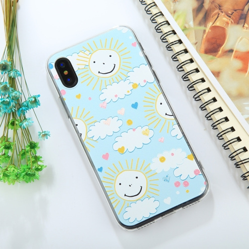 Buy For iPhone X Embossed Smiling Face Sun Pattern TPU Protective Back Cover Case for $1.54 in SUNSKY store