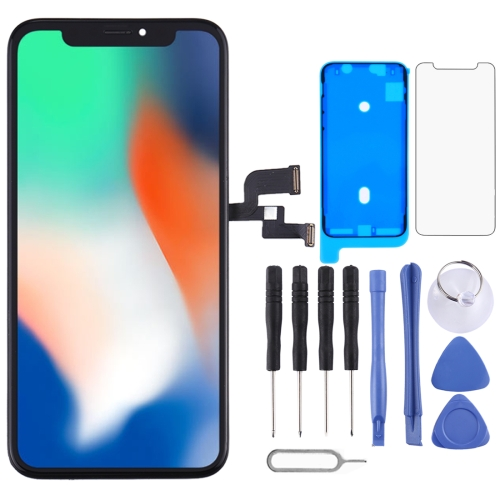 Digitizer Assembly(LCD + Frame + Touch Pad) for iPhone X(Black)