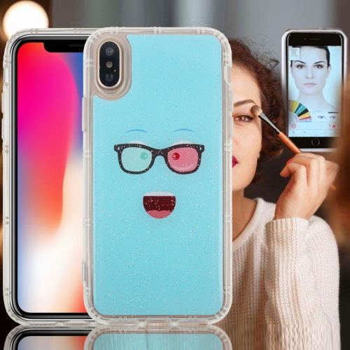 Buy For iPhone X Anti-Gravity Nano-suction Technology Dropproof Blue Glasses TPU Protective Back Cover Case for $2.79 in SUNSKY store
