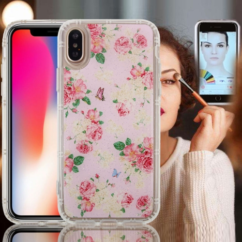 Buy For iPhone X Anti-Gravity Nano-suction Technology Dropproof Rose Pattern TPU Protective Back Cover Case for $2.79 in SUNSKY store