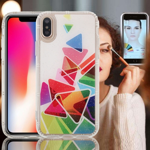 Buy For iPhone X Anti-Gravity Nano-suction Technology Dropproof Triangle Pattern TPU Protective Back Cover Case for $2.79 in SUNSKY store