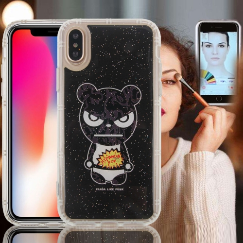 Buy For iPhone X Anti-Gravity Nano-suction Technology Dropproof Hi Panda Pattern TPU Protective Back Cover Case for $2.79 in SUNSKY store