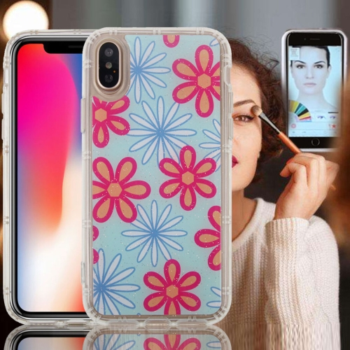 Buy For iPhone X Anti-Gravity Nano-suction Technology Dropproof Six Petal Pattern TPU Protective Back Cover Case for $2.77 in SUNSKY store