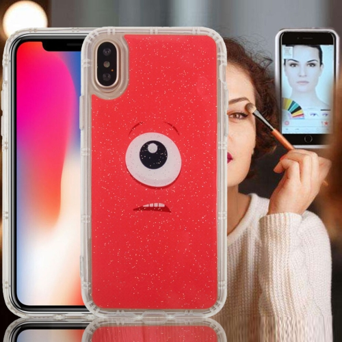 Buy For iPhone X Anti-Gravity Nano-suction Technology Dropproof Red Background Eye Pattern TPU Protective Back Cover Case for $2.79 in SUNSKY store