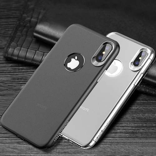 Buy 2 PCS TOTUDESIGN for iPhone X Frosted Soft TPU Full Coverage Protective Back Case + Transparent Smooth Surface Case (Black White) for $3.18 in SUNSKY store