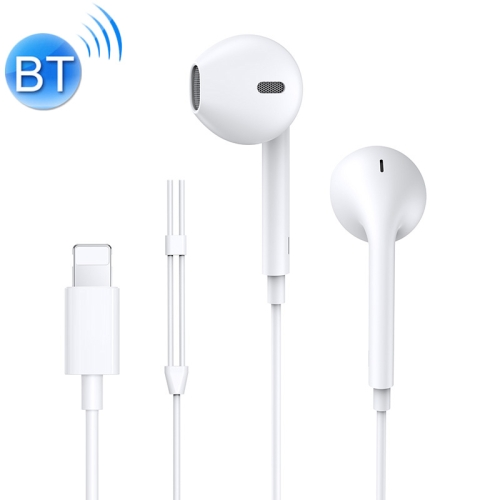 JOYROOM JR-EP2 8 Pin Interface Wired Bluetooth 4.2 Control In-Ear Earphone, For iPhone XR / iPhone XS MAX / iPhone X & XS / iPhone 8 & 8 Plus / iPhone 7 & 7 Plus / iPhone 6 & 6s & 6 Plus & 6s Plus / iPad(White)