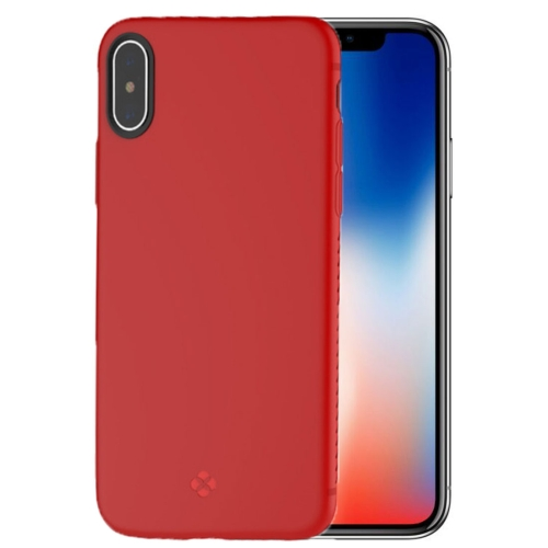 TOTUDESIGN For iPhone X TPU Anti-slip Soft Protective Back Cover Case, Red