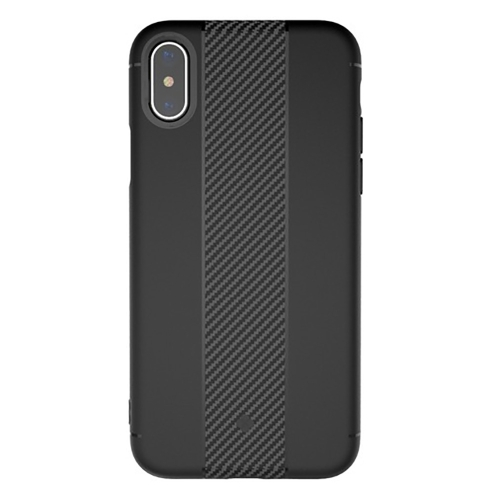 Buy TOTUDESIGN For iPhone X Carbon Fiber Texture TPU Anti-slip Soft Protective Back Cover Case, Black for $2.66 in SUNSKY store