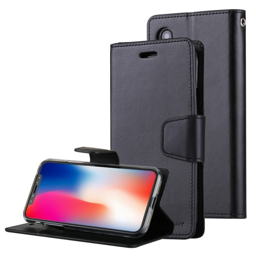 Buy MERCURY GOOSPERY SONATA DIARY for iPhone X Business Style Magnetic Clasp Horizontal Flip Leather Case with Holder & Card Slots & Wallet, Black for $4.45 in SUNSKY store