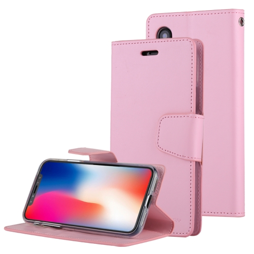 Buy MERCURY GOOSPERY SONATA DIARY for iPhone X Business Style Magnetic Clasp Horizontal Flip Leather Case with Holder & Card Slots & Wallet, Pink for $4.45 in SUNSKY store