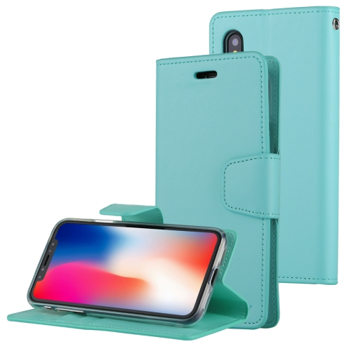 Buy MERCURY GOOSPERY SONATA DIARY for iPhone X Business Style Magnetic Clasp Horizontal Flip Leather Case with Holder & Card Slots & Wallet, Green for $4.45 in SUNSKY store