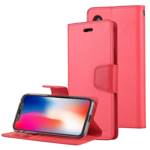 Buy MERCURY GOOSPERY SONATA DIARY for iPhone X Business Style Magnetic Clasp Horizontal Flip Leather Case with Holder & Card Slots & Wallet, Red for $4.45 in SUNSKY store