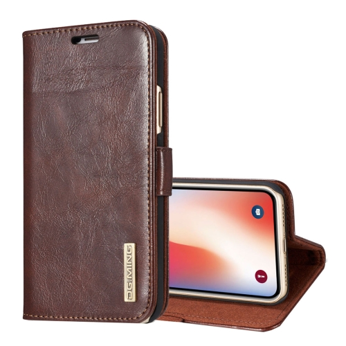 Buy DG.MING for iPhone X Genuine Leather Horizontal Flip Detachable Magnetic Protective Case with Holder & Card Slots & Lanyard, Coffee for $7.09 in SUNSKY store