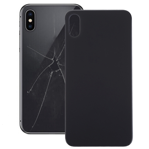 Glass Battery Back Cover for iPhone X (Black)