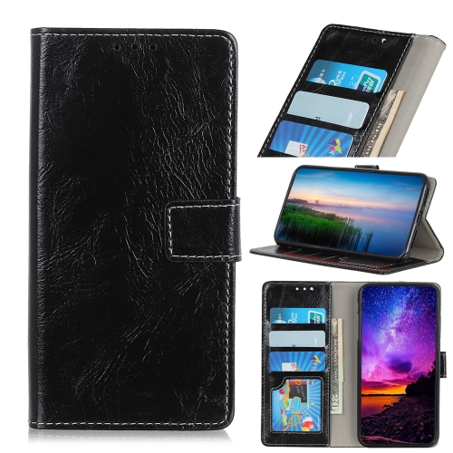 Retro Crazy Horse Texture Horizontal Flip Leather Case for iPhone 11 Pro, with Holder & Card Slots & Photo Frame & Wallet (Black)