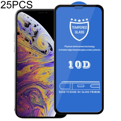 25 PCS 9H 10D Full Screen Tempered Glass Screen Protector for iPhone XS Max / iPhone 11 Pro Max фото