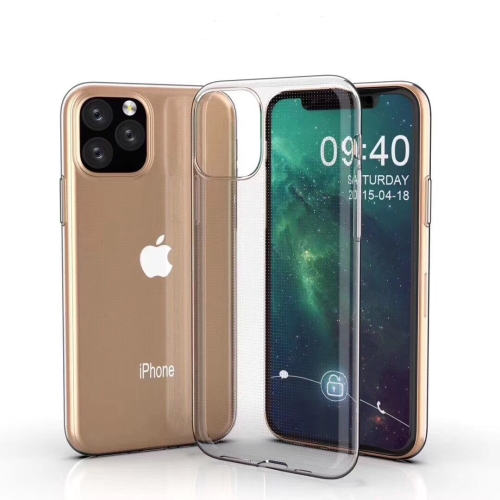 0.75mm Ultra-thin Shockproof TPU Protective Case for iPhone XI Max (2019)(Transparent)