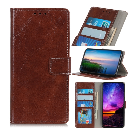 Retro Crazy Horse Texture Horizontal Flip Leather Case for iPhone 11, with Holder & Card Slots & Photo Frame & Wallet (Brown)