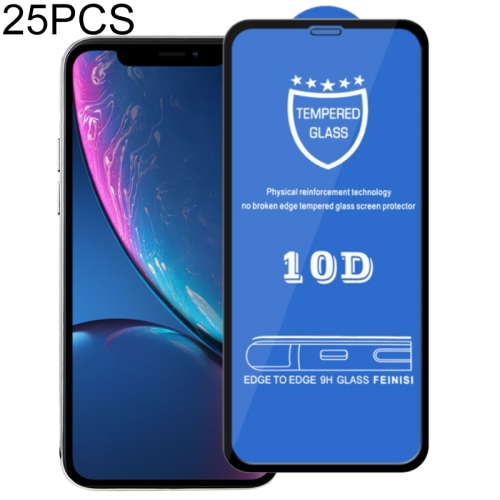 25 PCS 9H 10D Full Screen Tempered Glass Screen Protector for iPhone XR / iPhone 11 фото