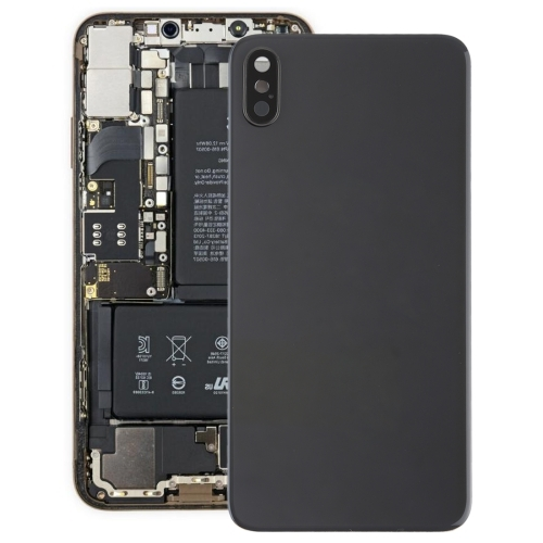 Battery Back Cover with Back Camera Bezel & Lens & Adhesive for iPhone XS Max(Black)