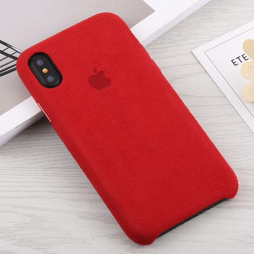 Suede PC Protective Back Cover Case for iPhone XS Max (Red)